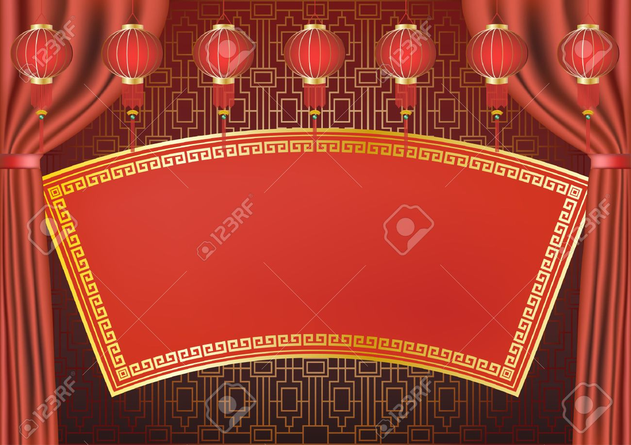 Traditional Chinese style background design. Stock Vector - 6340800