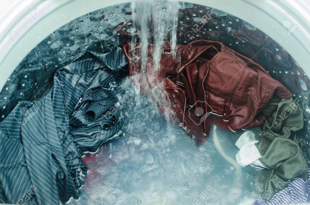 Clothes in washing machine - 55744475