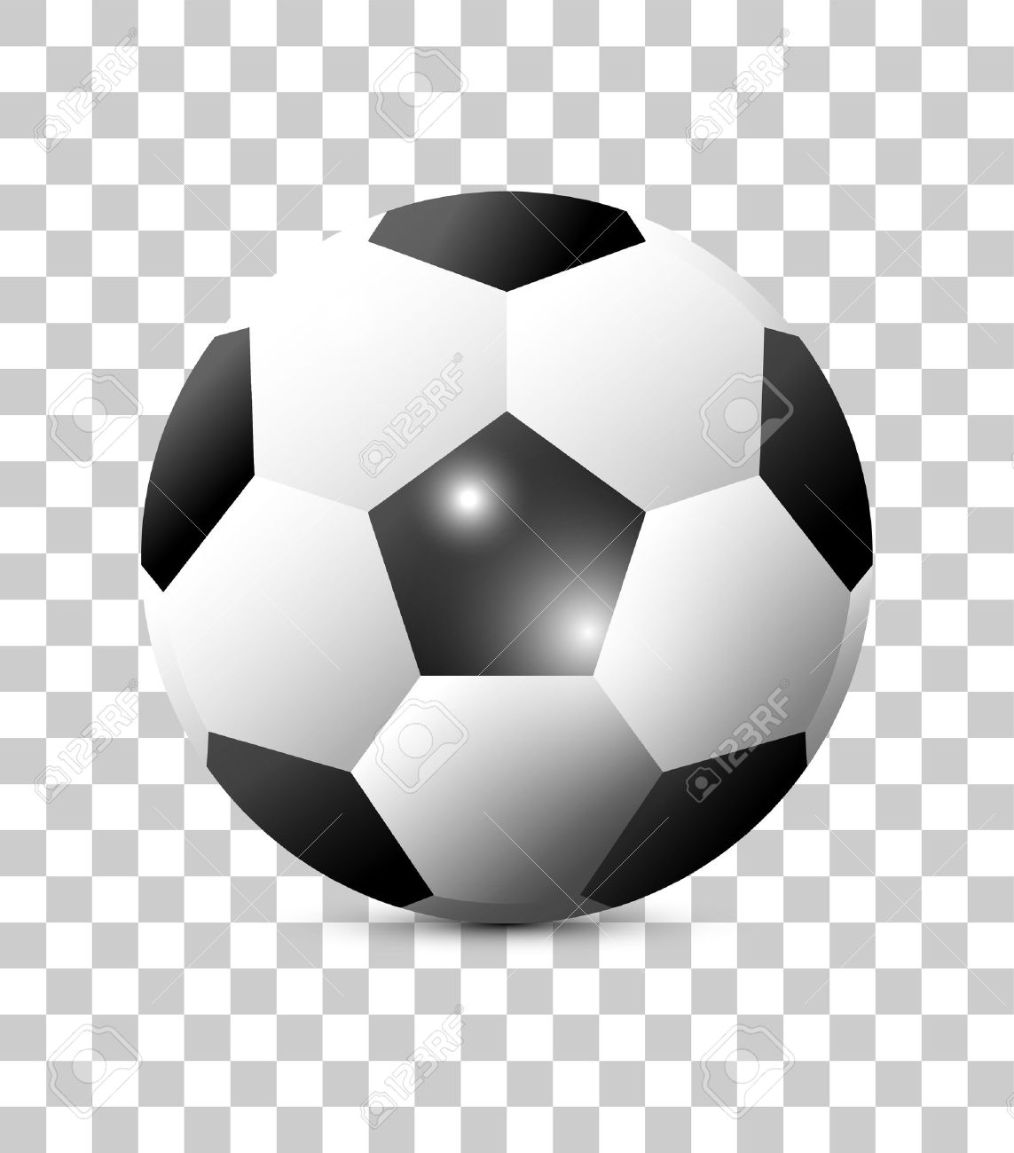 Classic Soccer Ball Isolated On Transparent Background Football