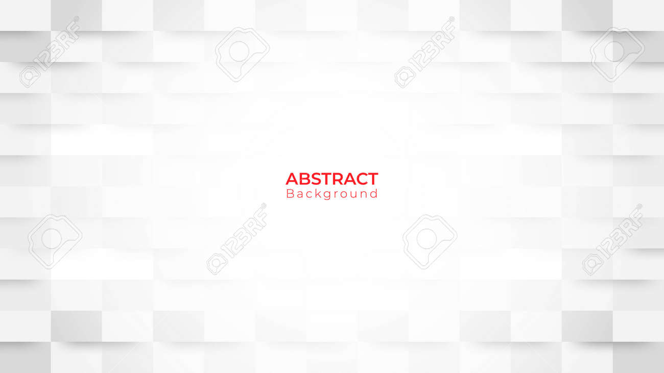 Abstract modern square background. White and grey geometric texture. 3d vector illustration - 148014048