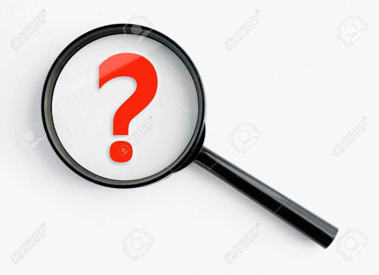 3d person with magnifying glass and question mark stock images image - Analyzing Question Mark Question Mark Under A Magnifying Glass With Isolated Background