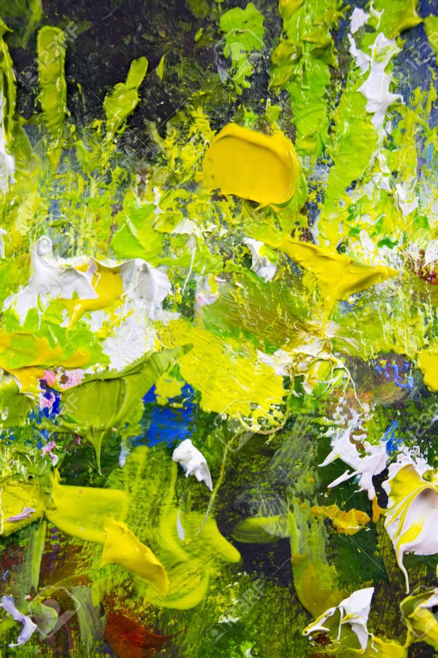 Illustration Vectorielle De Peinture Abstraite Fragment Fond D écran Avec Des Marques De Couteau à Palette Huile Sur Toile Texture Toile Art Fond