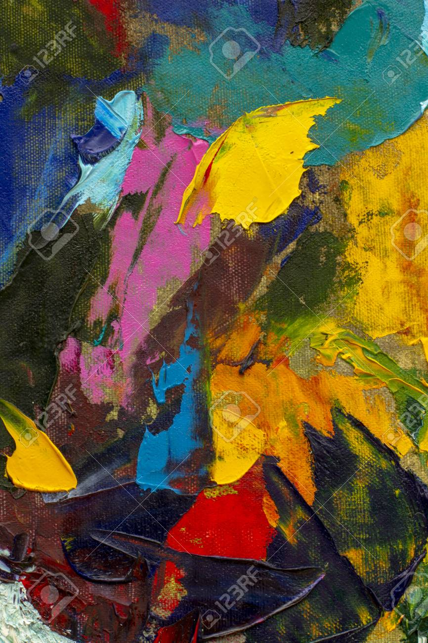 Large Bright Abstract Art