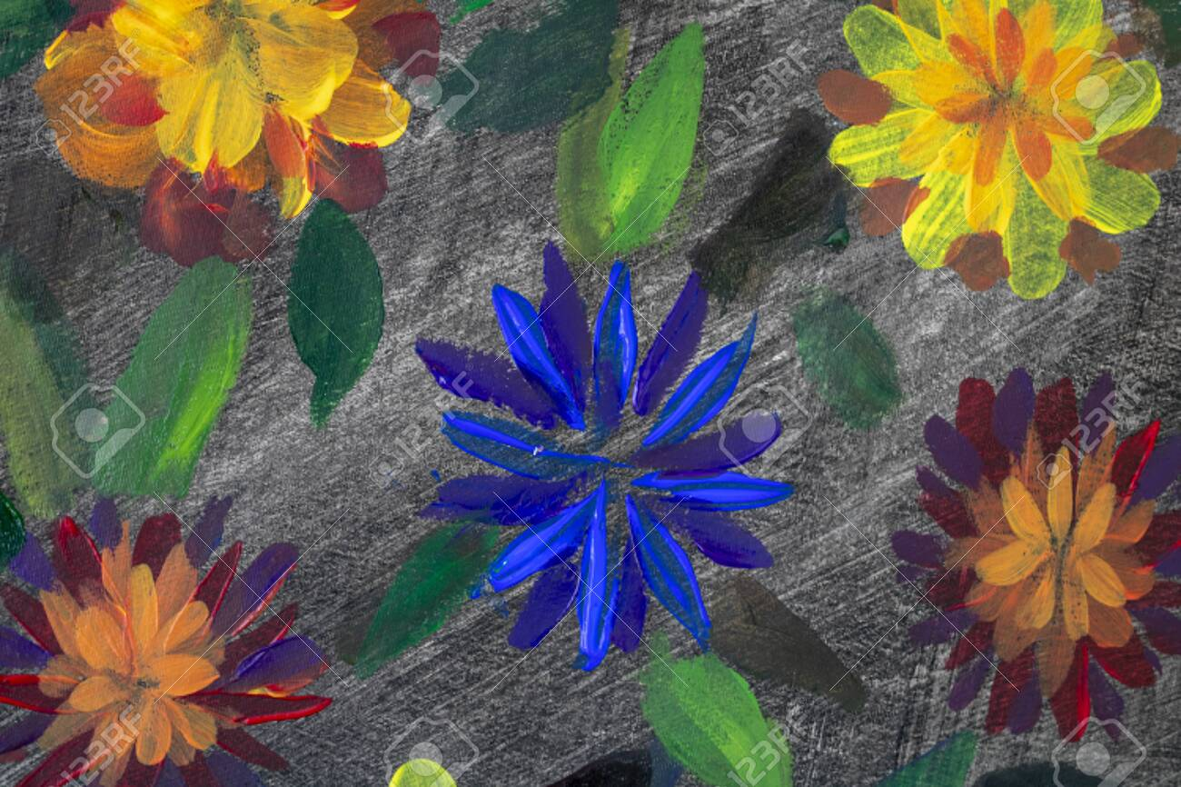 Oil Painting Flowers In Black Impressionism Style Flower Painting Stock Photo Picture And Royalty Free Image Image 133234107