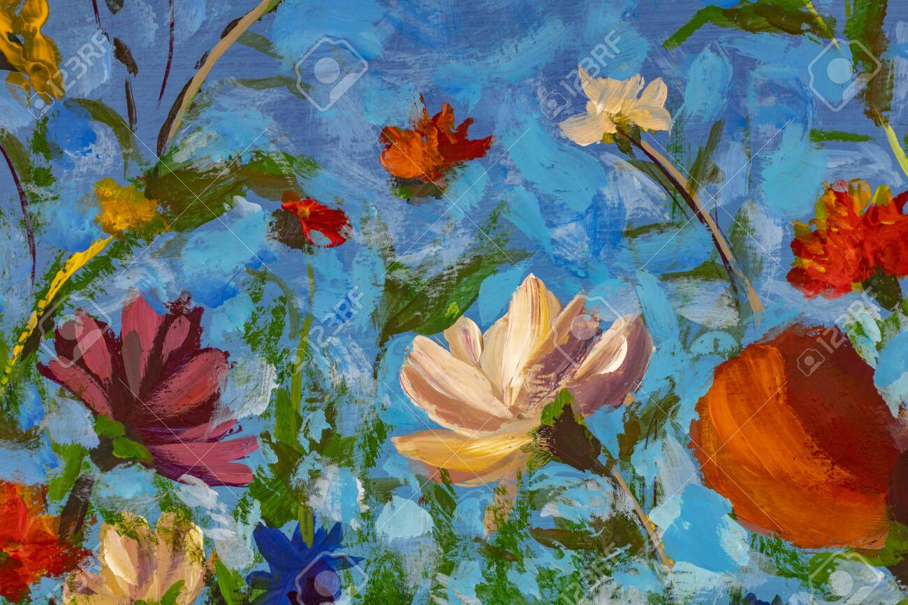 Oil Painting Impressionism Style Flower Painting Still Life Stock Photo Picture And Royalty Free Image Image 141700131