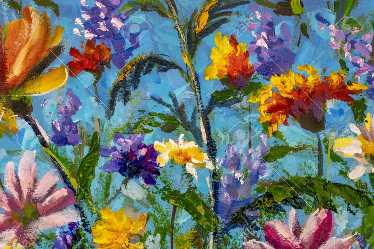 Oil Painting Impressionism Style Flower Painting Still Life Stock Photo Picture And Royalty Free Image Image 141700349