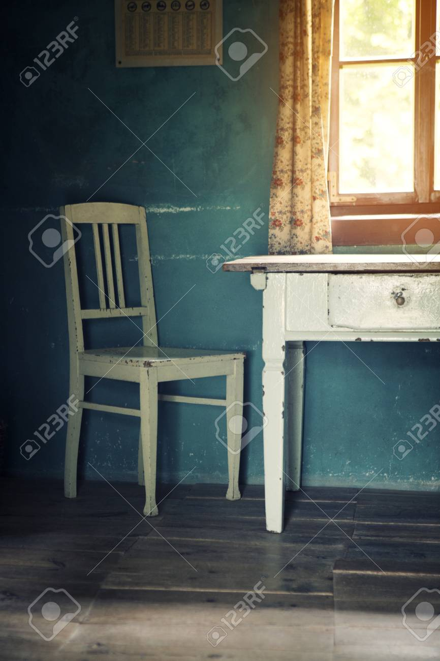 Prime Room With Old Vintage Chair And Table And Sun Coming Through Download Free Architecture Designs Scobabritishbridgeorg