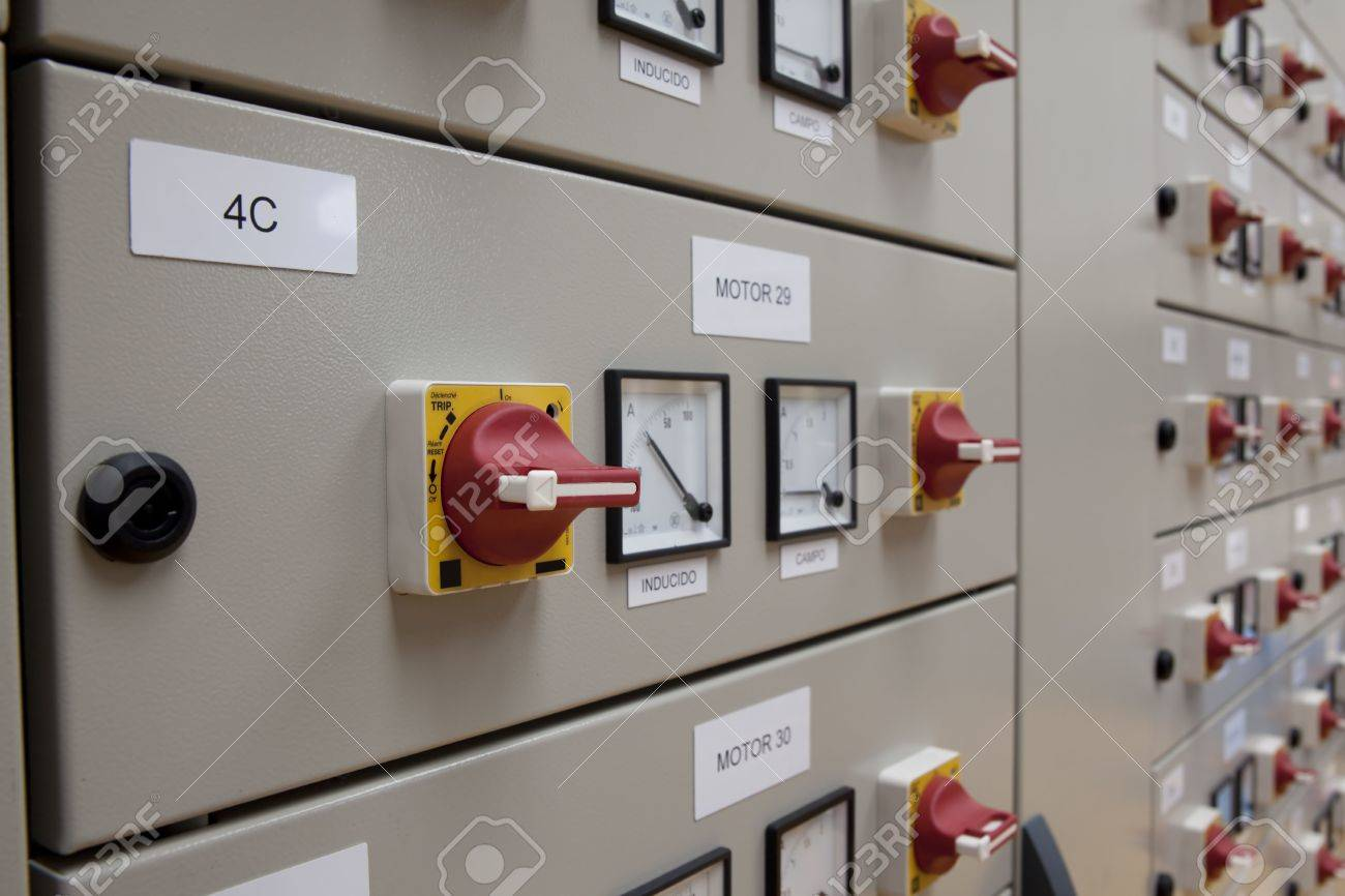 Electrical panel made from cubicles Stock Photo - 5690268
