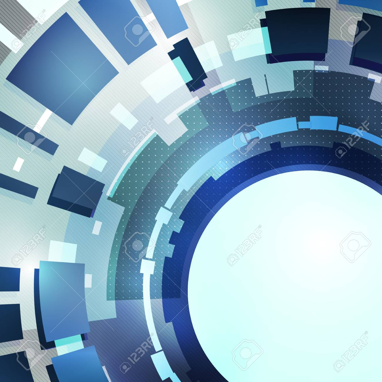 Abstract modern blue backdrop with place for text Stock Vector - 14026883