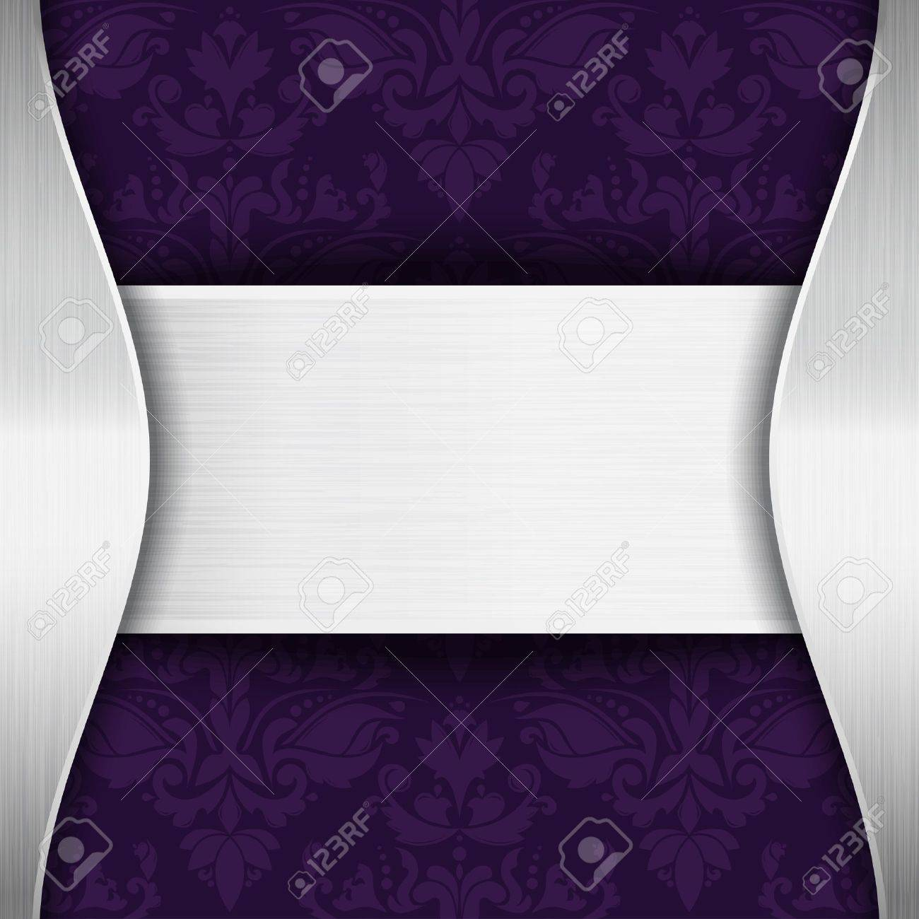 Silver and purple template with place for text Stock Vector - 14585602