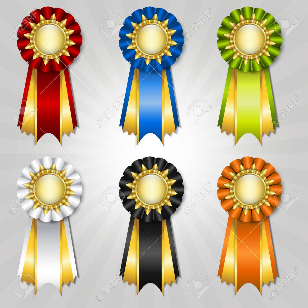 set of vecor prize ribbons with place for text royalty free cliparts