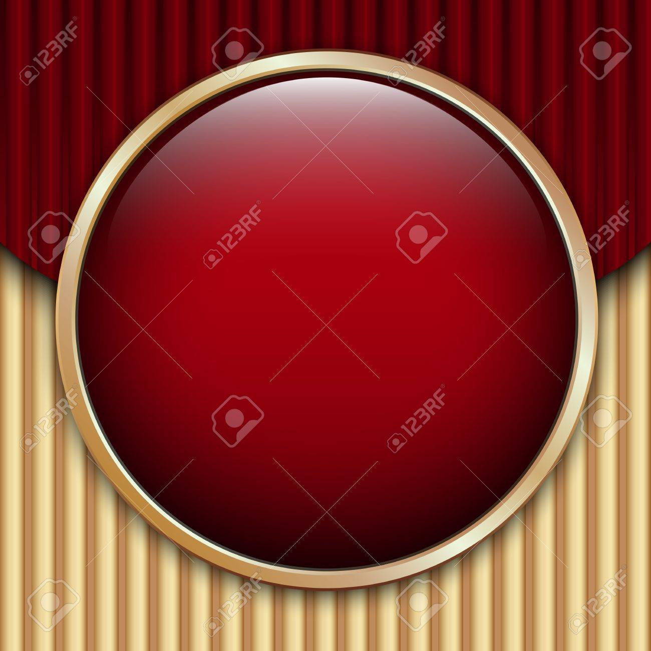 Red Corrugated Cardboard Background with glossy button and place for text Stock Vector - 15073625