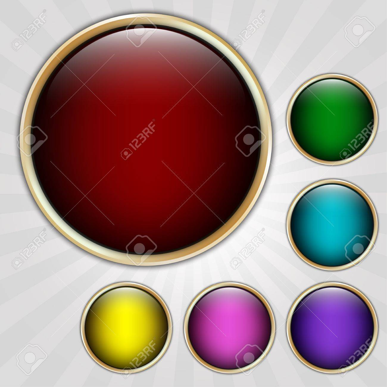 Round detailed labels in different color. Vector illustration Stock Vector - 15073623