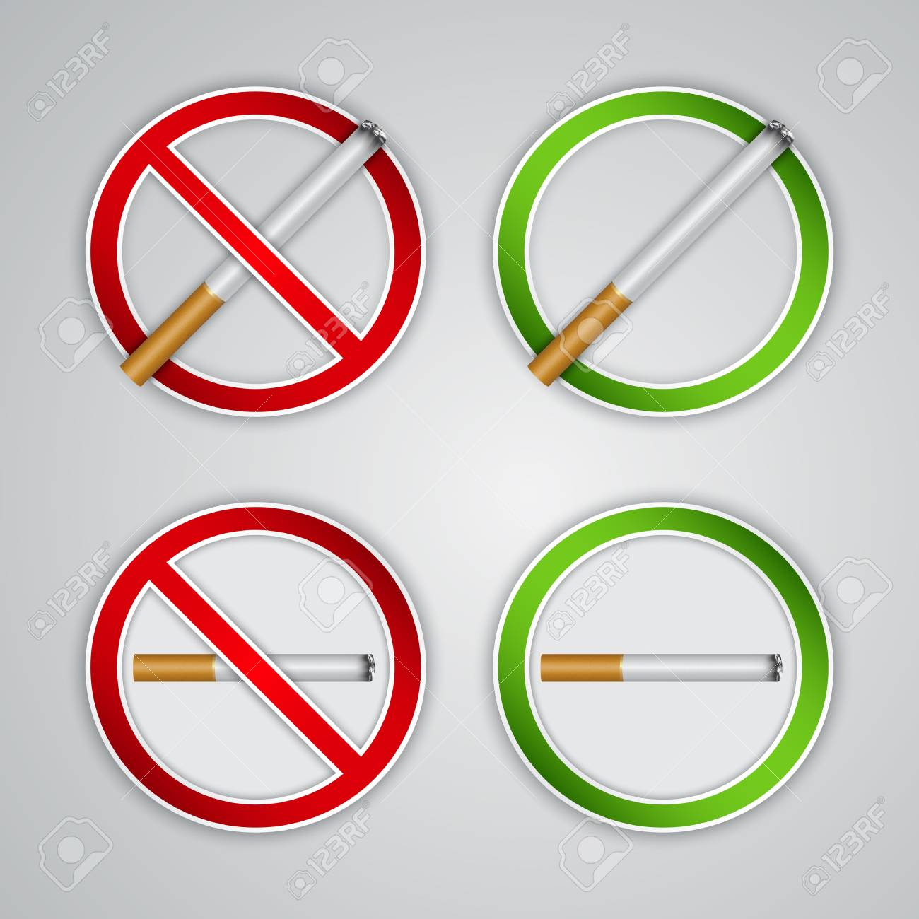 No smoking and Smoking area signs, highly detailed Stock Vector - 16645789
