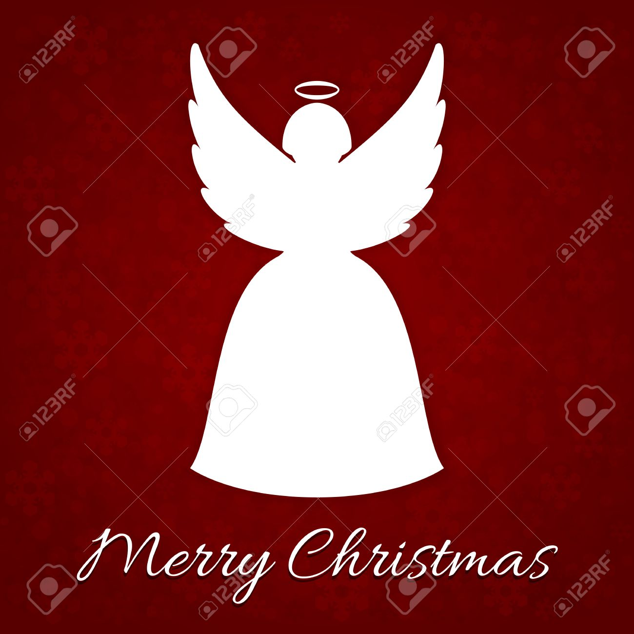 A Very Merry Christmas card with angel Stock Vector - 22799744