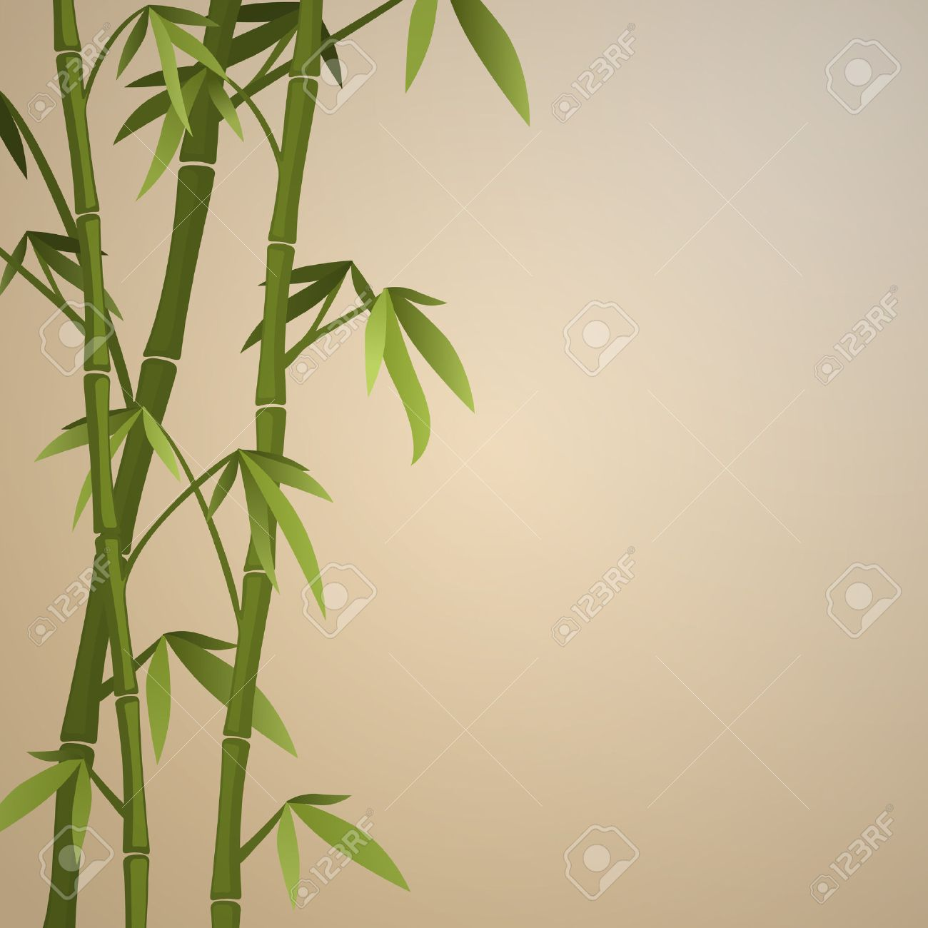 Background with bamboo stems. Color version - 25635566
