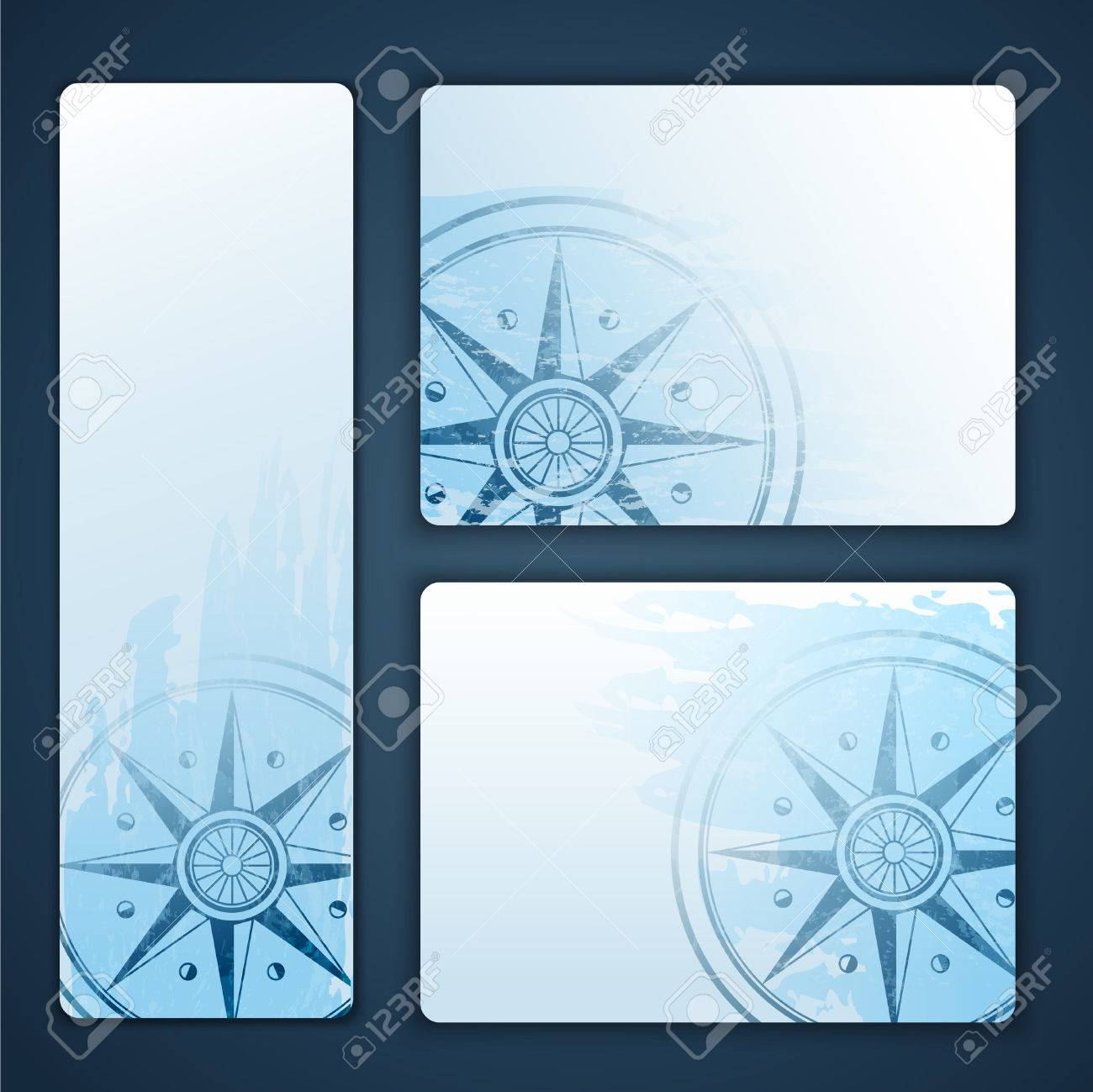 Nautical banners with wind rose compass - 28437016