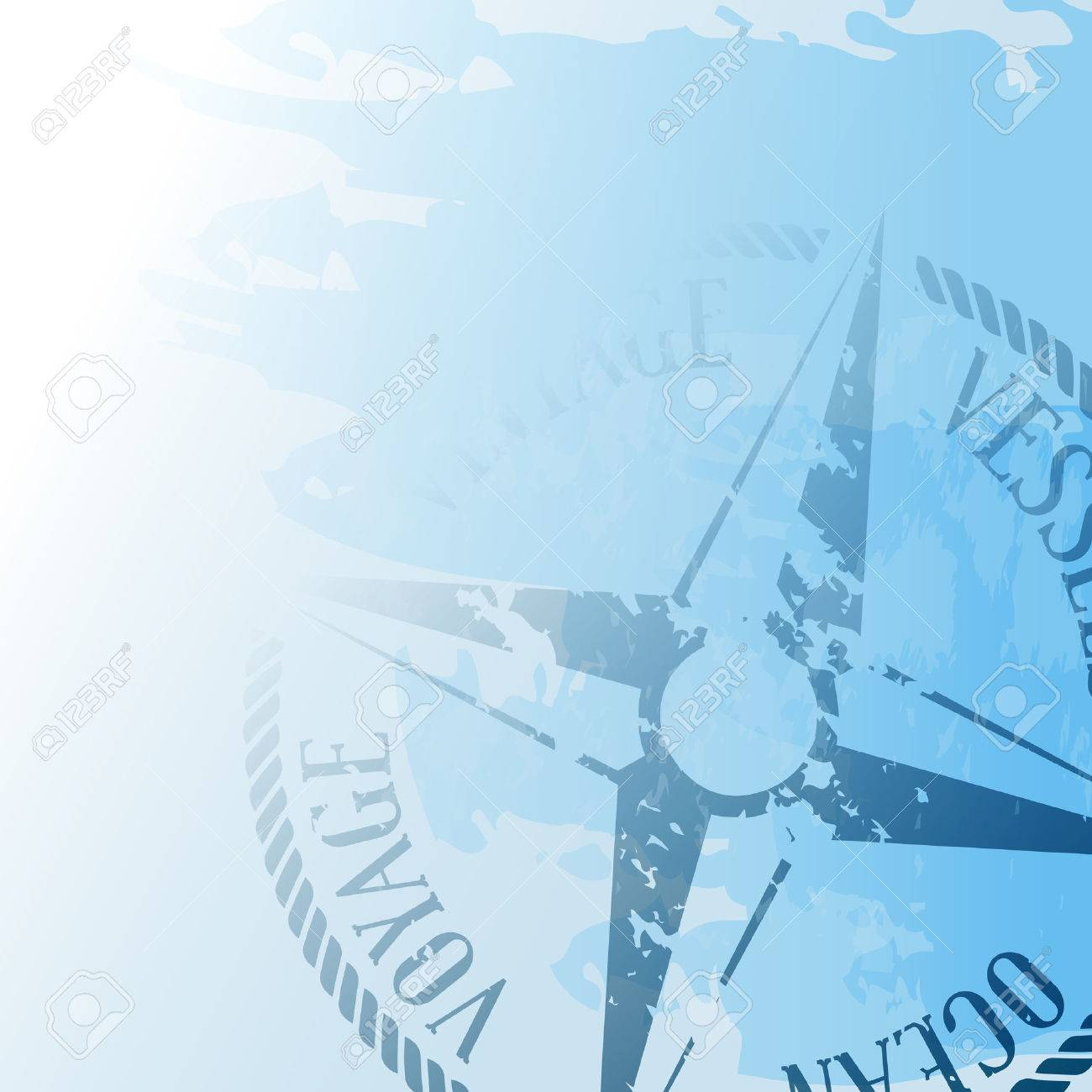 Nautical background with wind rose compass - 28437031