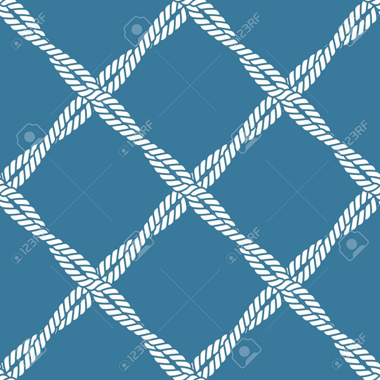 Seamless nautical rope knot pattern - 29426635