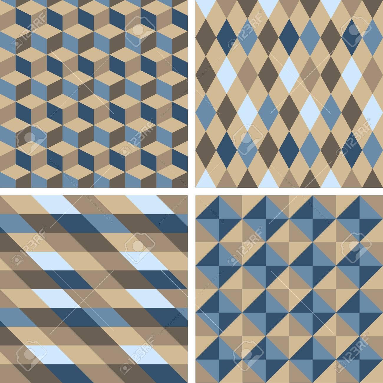 Fliesenmuster  Vector Nahtlose Fliesen Muster - Geometrische. Zum Textildruck ...