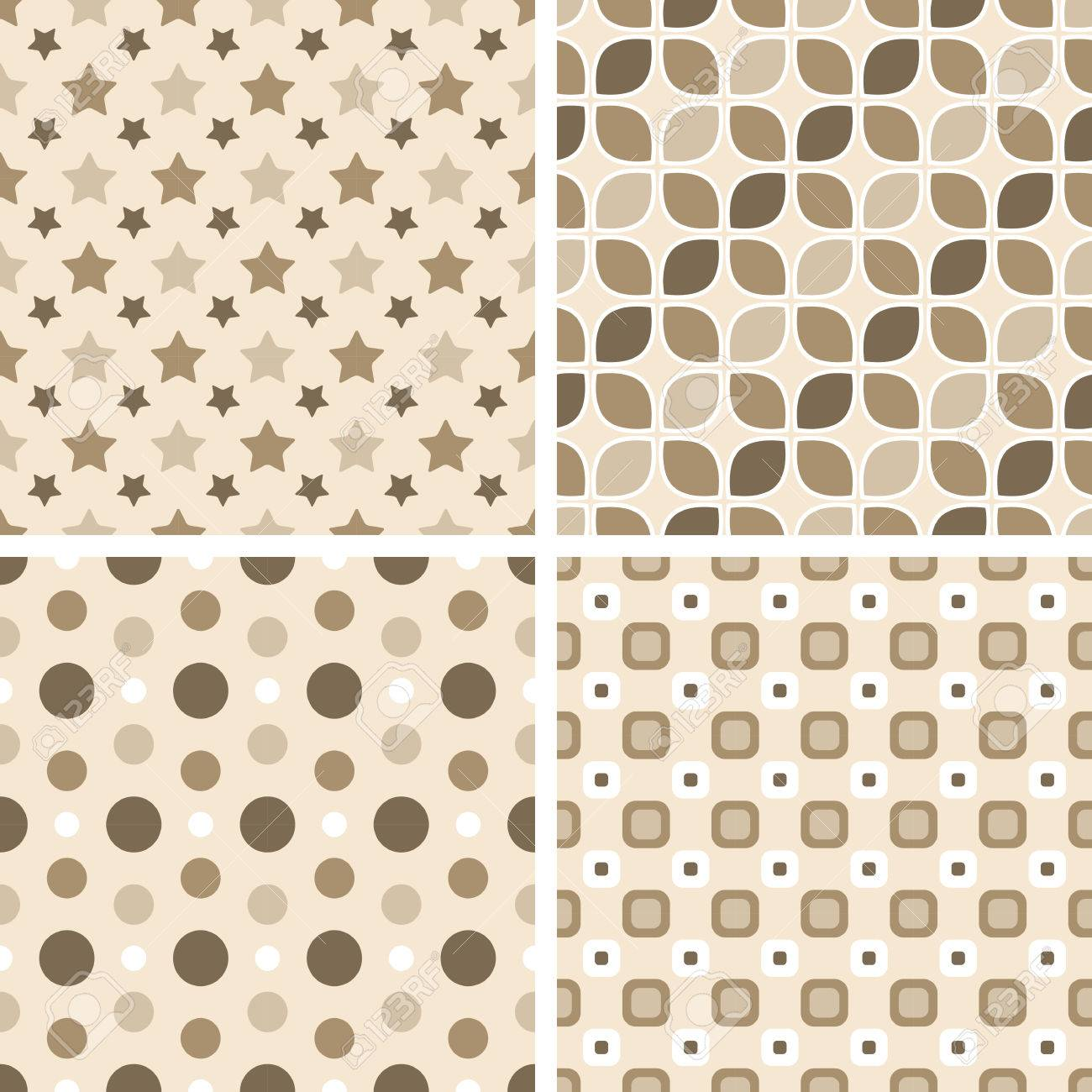 Vector Seamless Tiling Patterns - Geometric. For Printing On ...