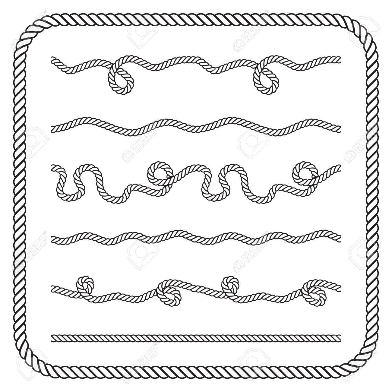 Nautical rope knots. - 42747474
