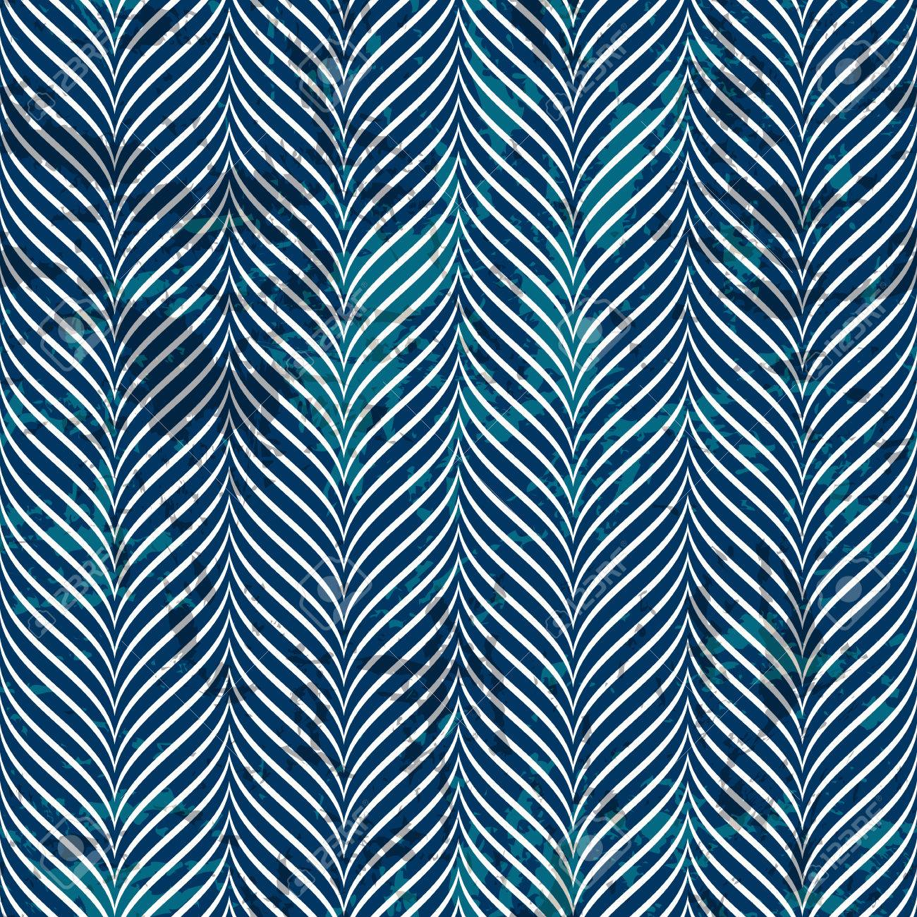 Blue And White Vector Seamless Chevron Pattern For Printing