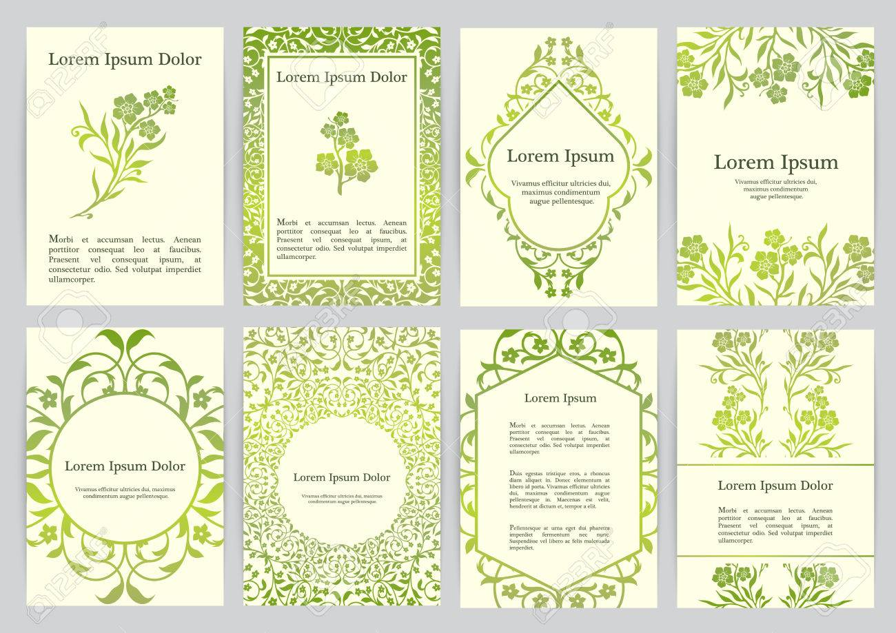 Vector Templates For A4 With Florals. Based On Ancient Greek ...