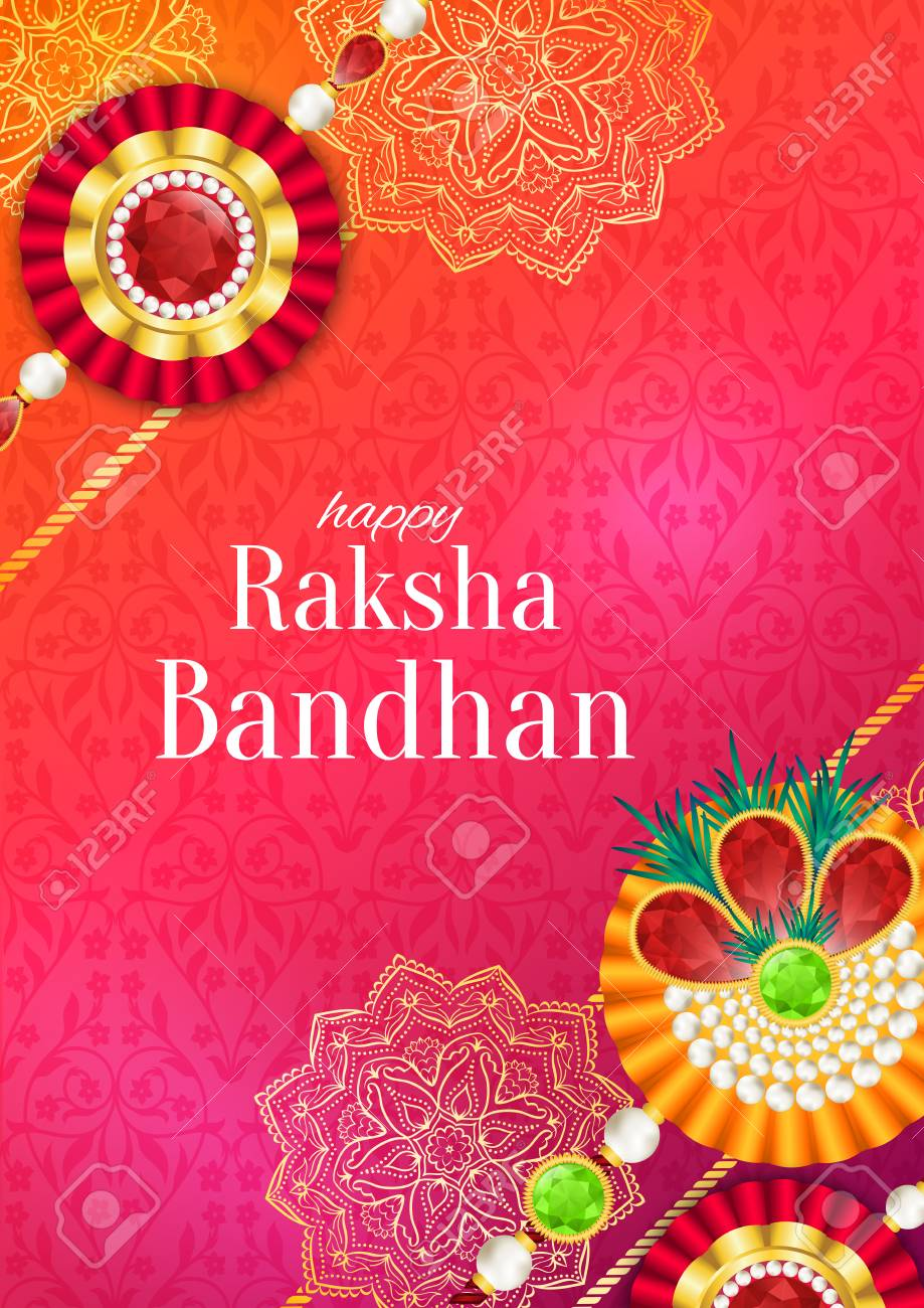 Raksha Bandhan Vector Background Rakshabandhan Greeting Card