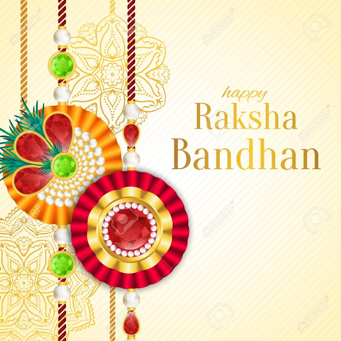 Raksha Bandhan Vector Background Rakshabandhan Greeting Card