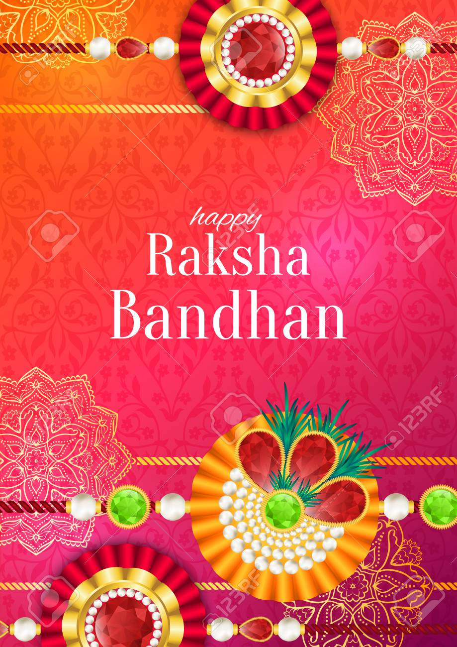 Raksha bandhan vector background rakshabandhan greeting card raksha bandhan vector background rakshabandhan greeting card with rakhi a talisman or amulet m4hsunfo