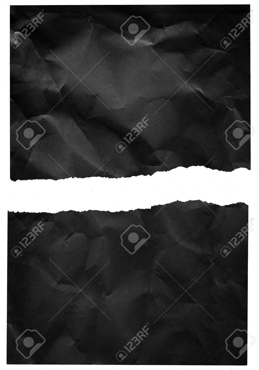 Crumpled torn paper Stock Photo - 8951430