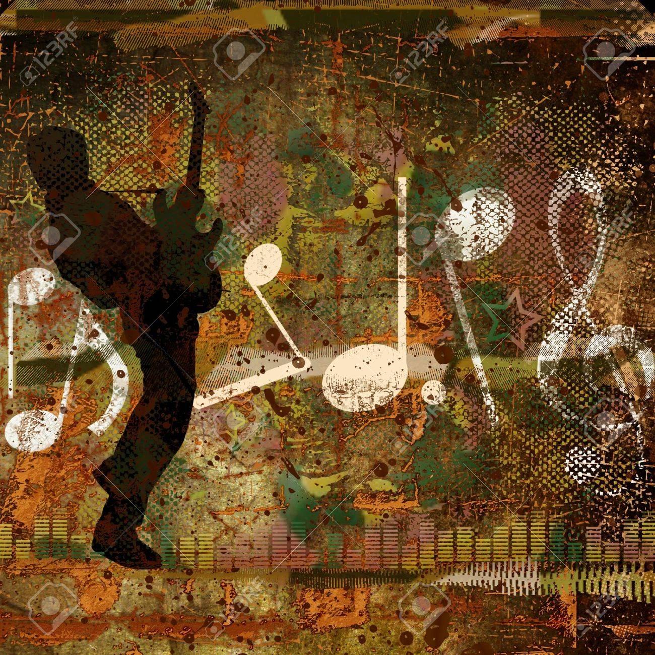 GRUNGE  MUSICAL BACKGROUND Stock Photo - 9079503