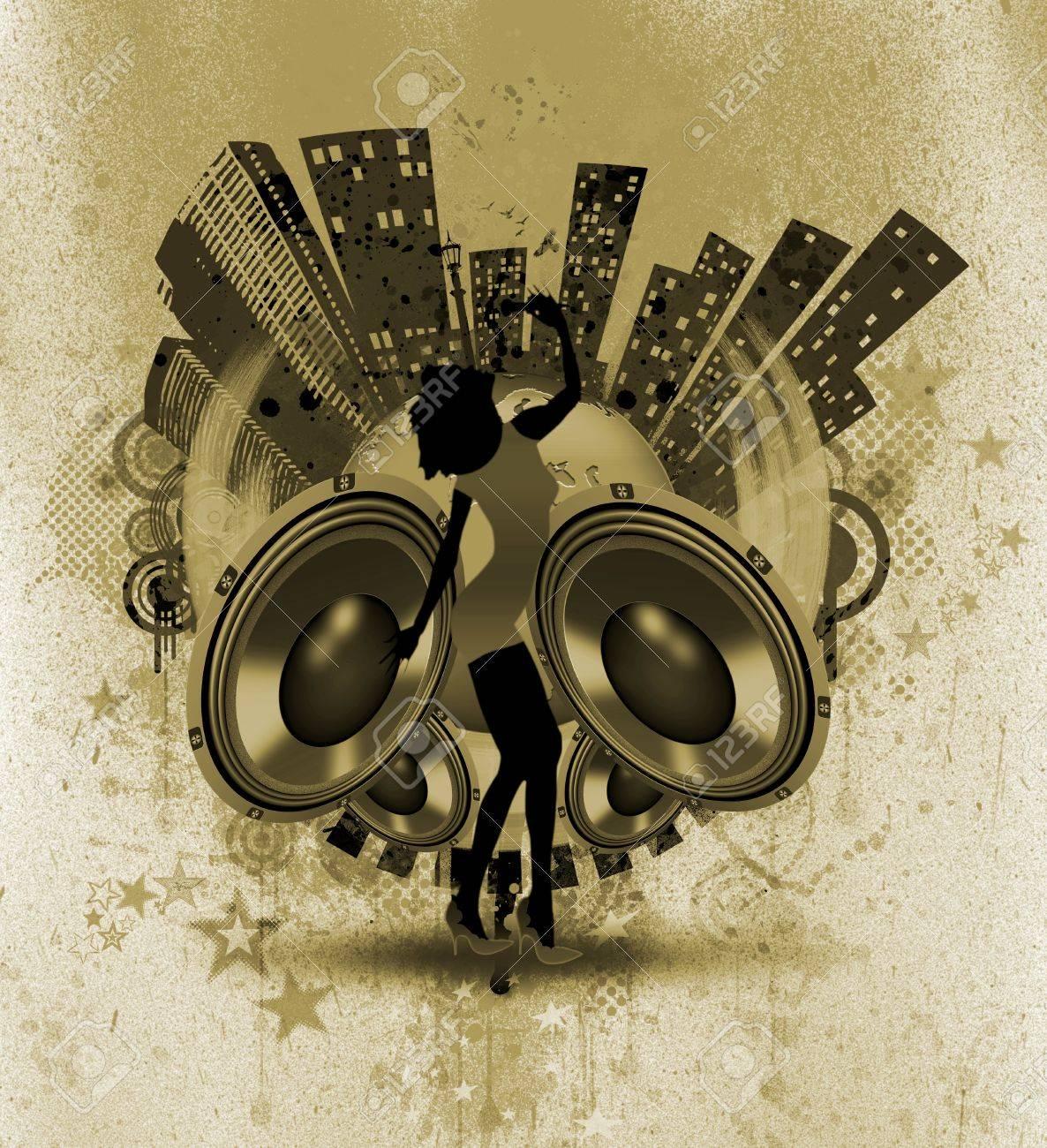 MUSICAL WALLPAPER Stock Photo - 9704268