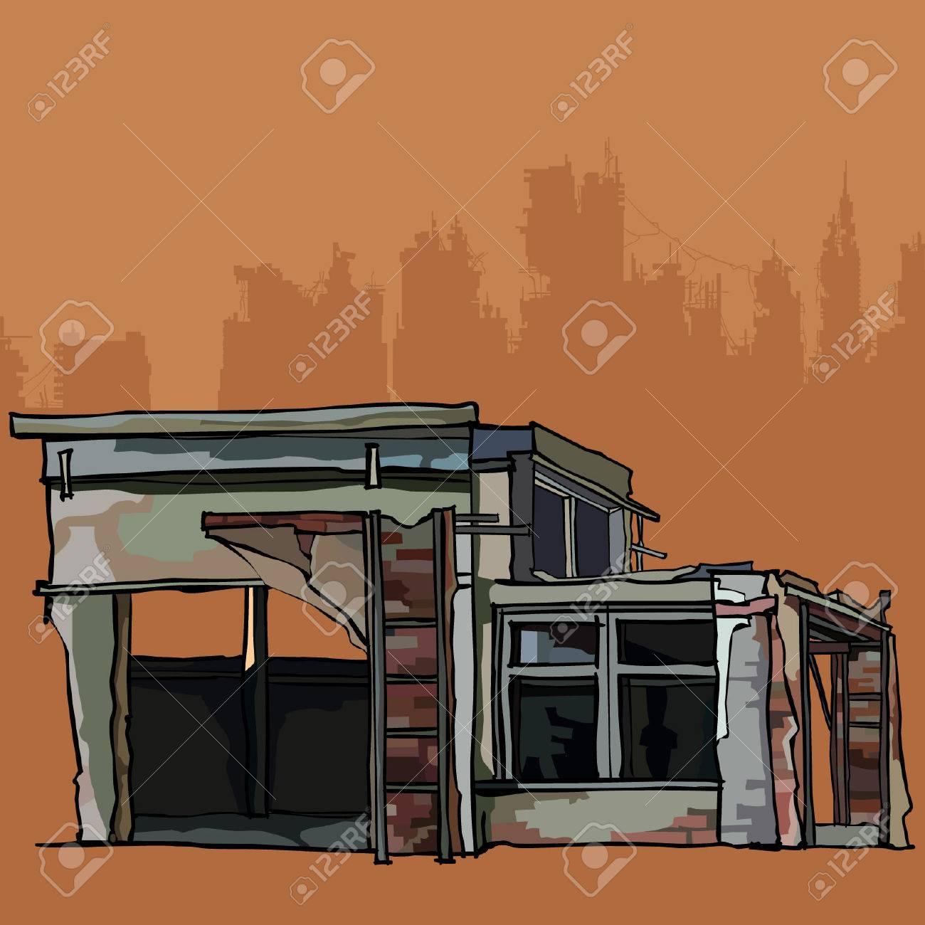 老朽化したれんが造りの建物は別館とガレージ