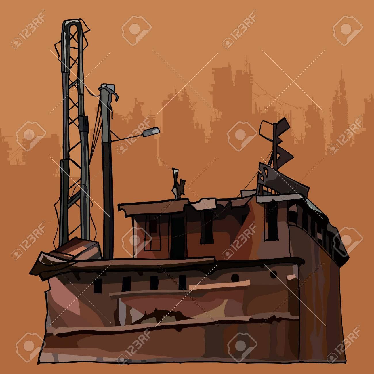 老朽化したさびた古い腐食金属工事