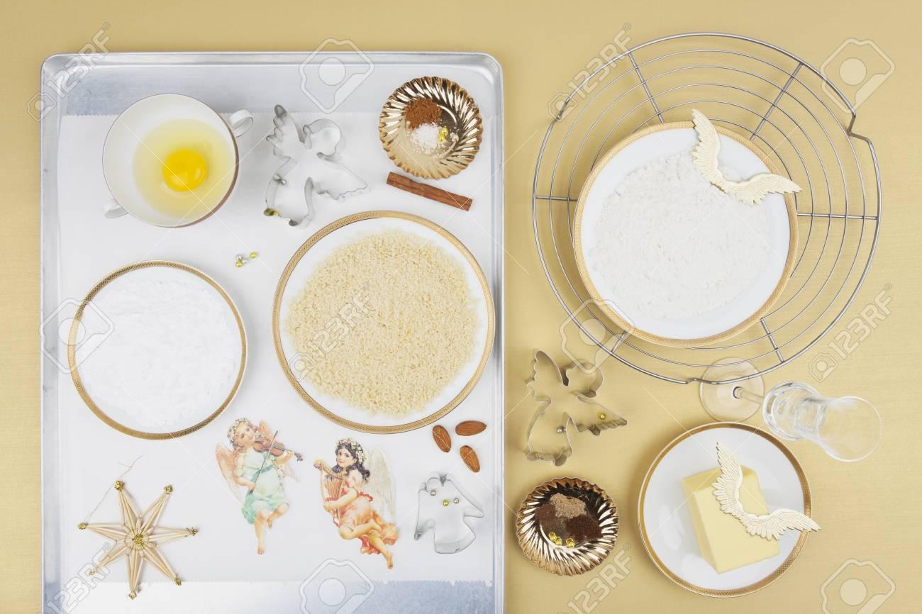 Ingredients For Christmas Angel Cookies