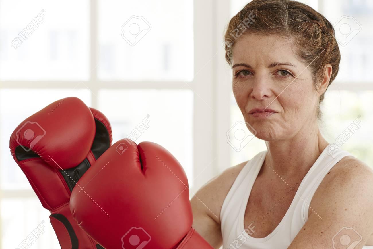 Boxing mature female