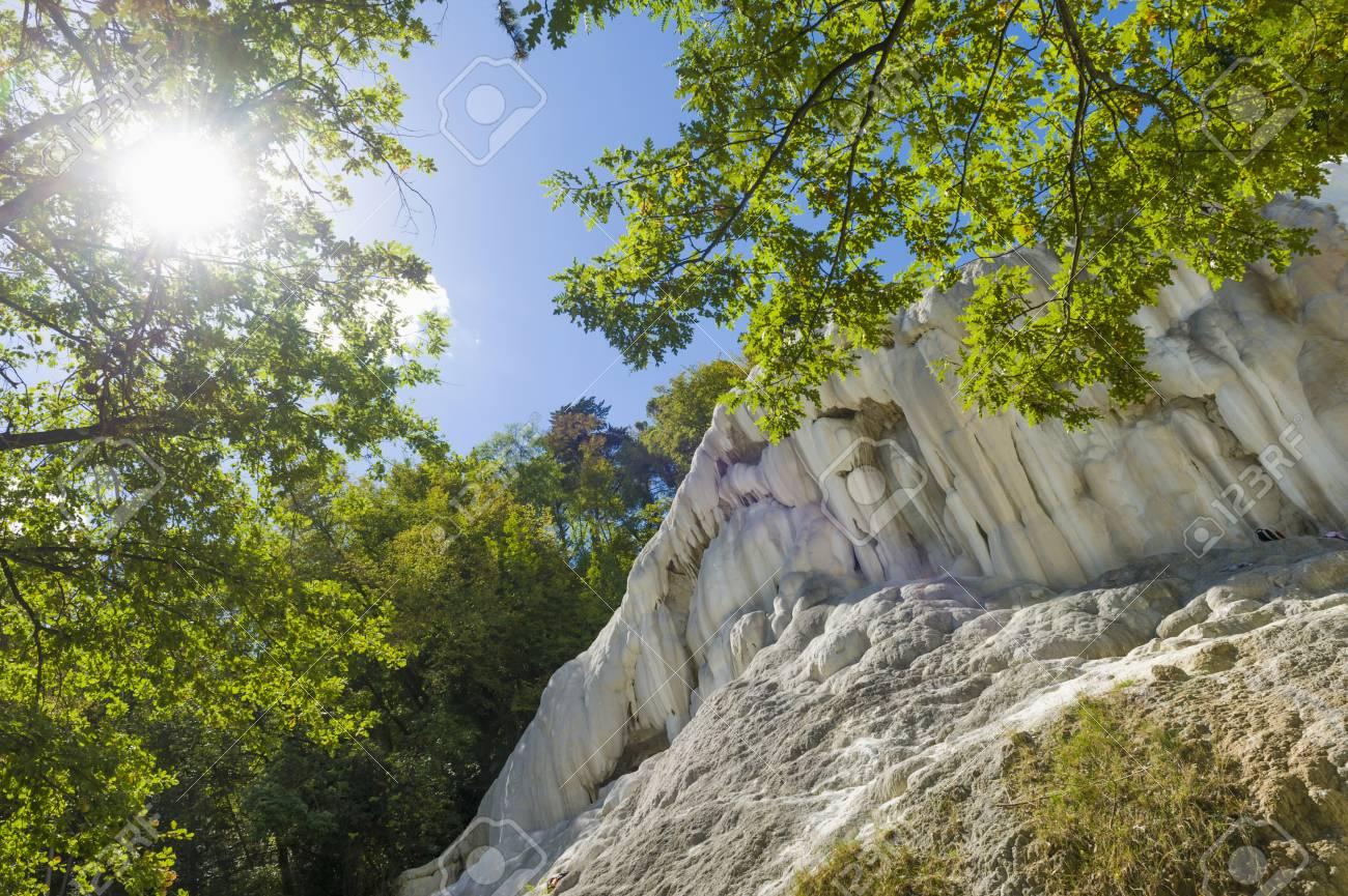 Italy, Tuscany, Val D\'Orcia, Bagni San Filippo, Travertine Rock ...