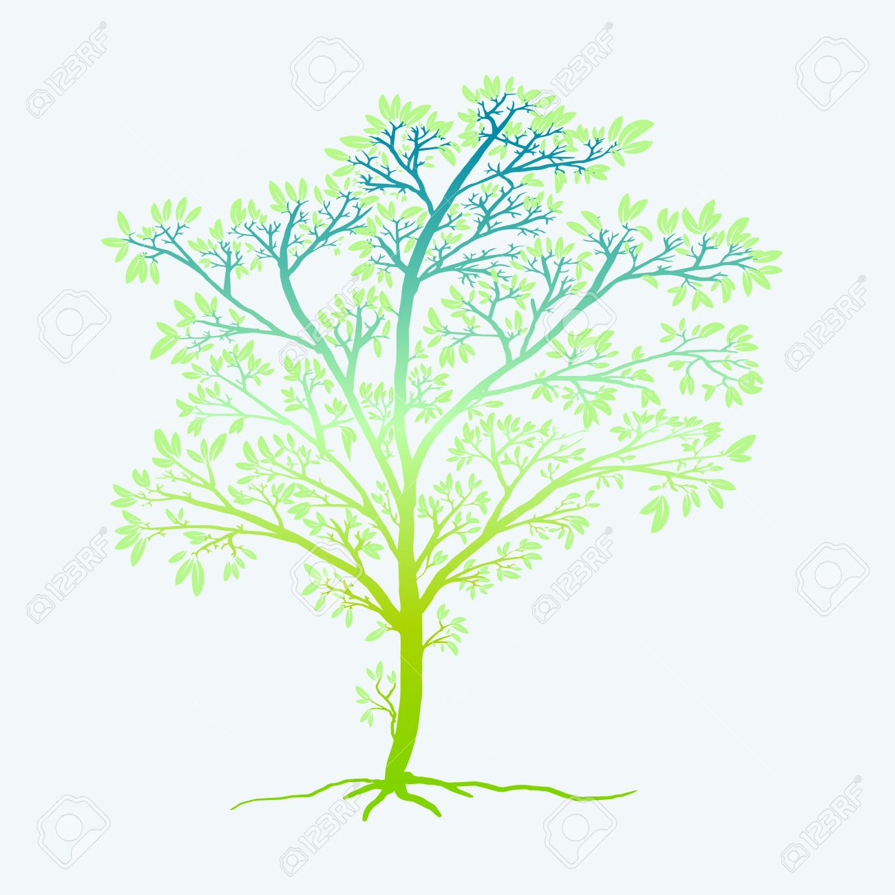 Colorful Tree Of Life, On A White Background Isolated, For Any ...