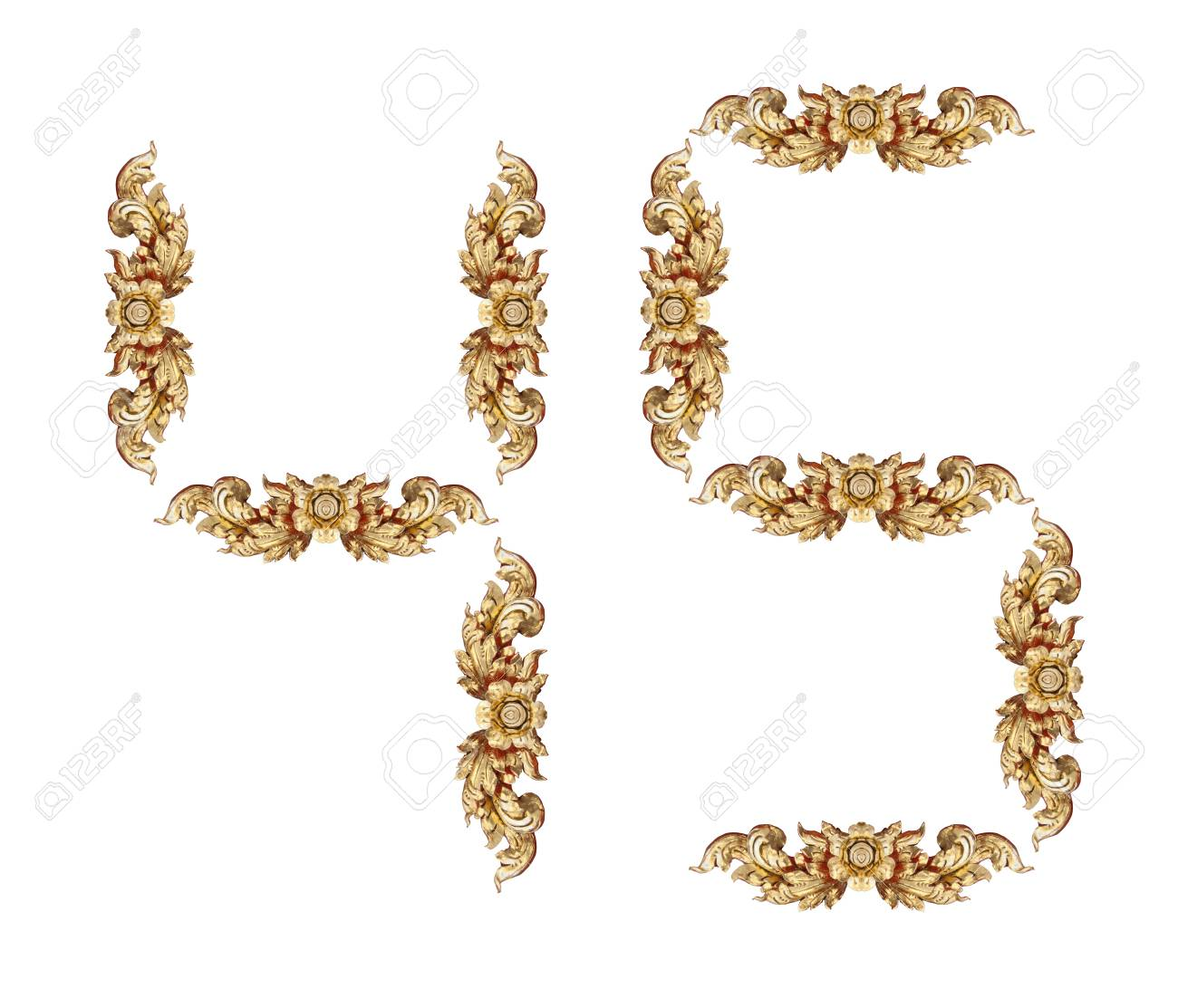 Vintage number on white background Stock Photo - 17907914