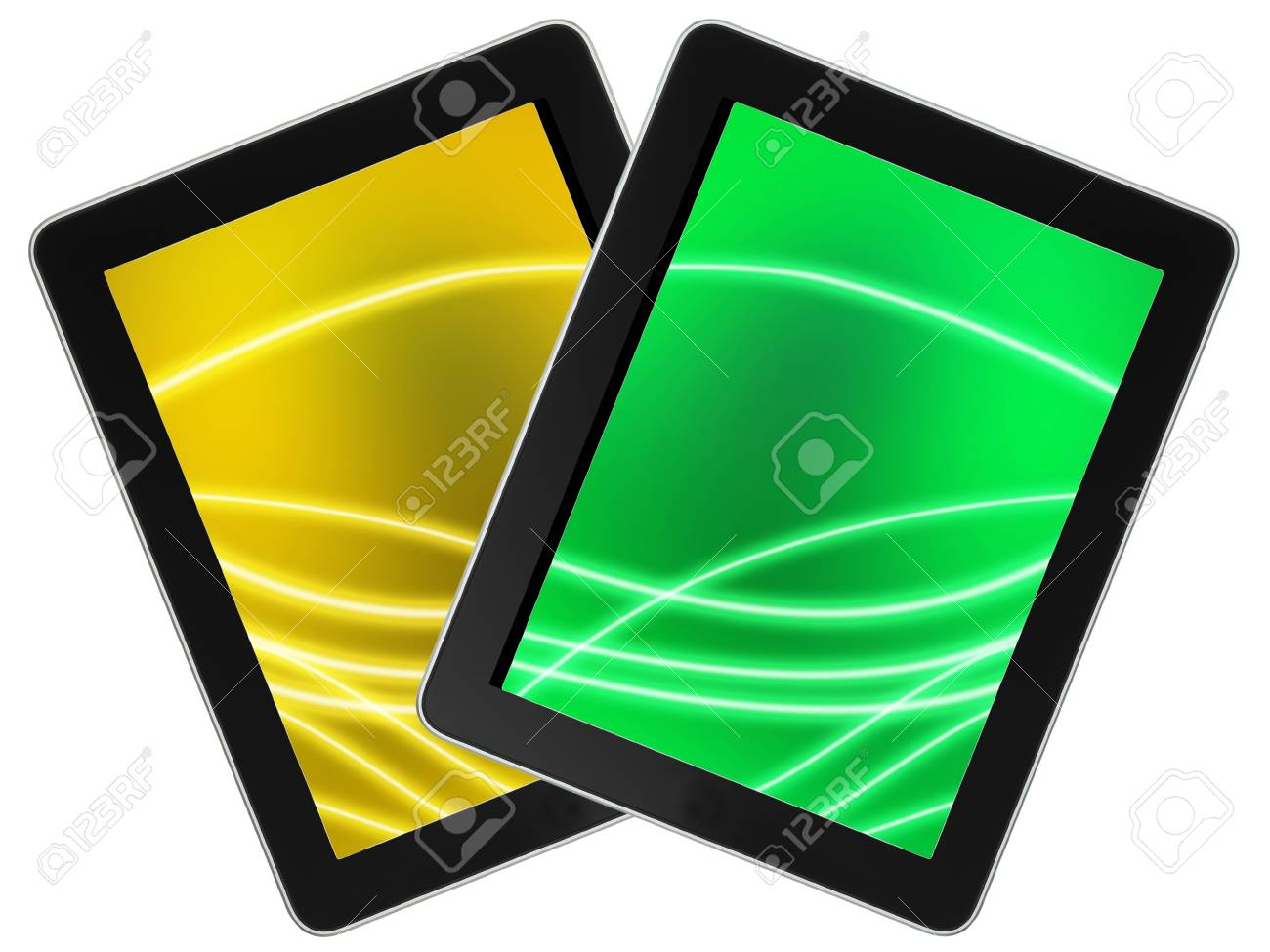 Touch screen device isolate on white background Stock Photo - 18052841