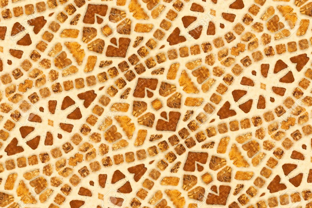 Ceramics Wall Decorative Ornament From Ceramic Broken Tile Stock ...