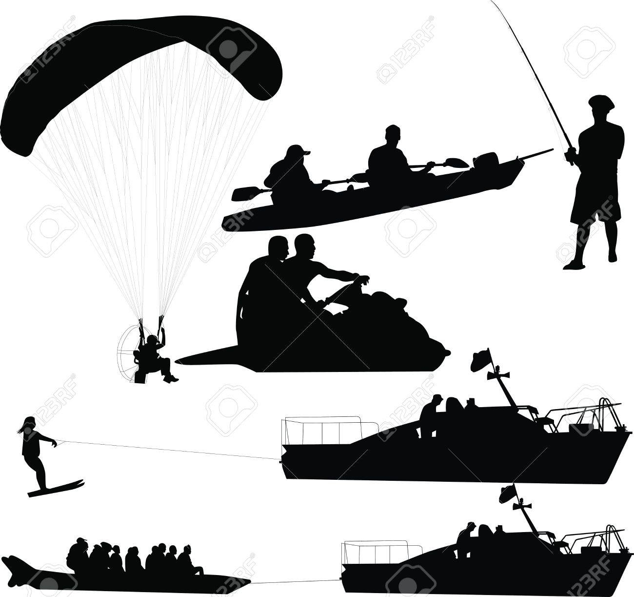 hobby rest hobby on water land air Stock Vector - 14194320