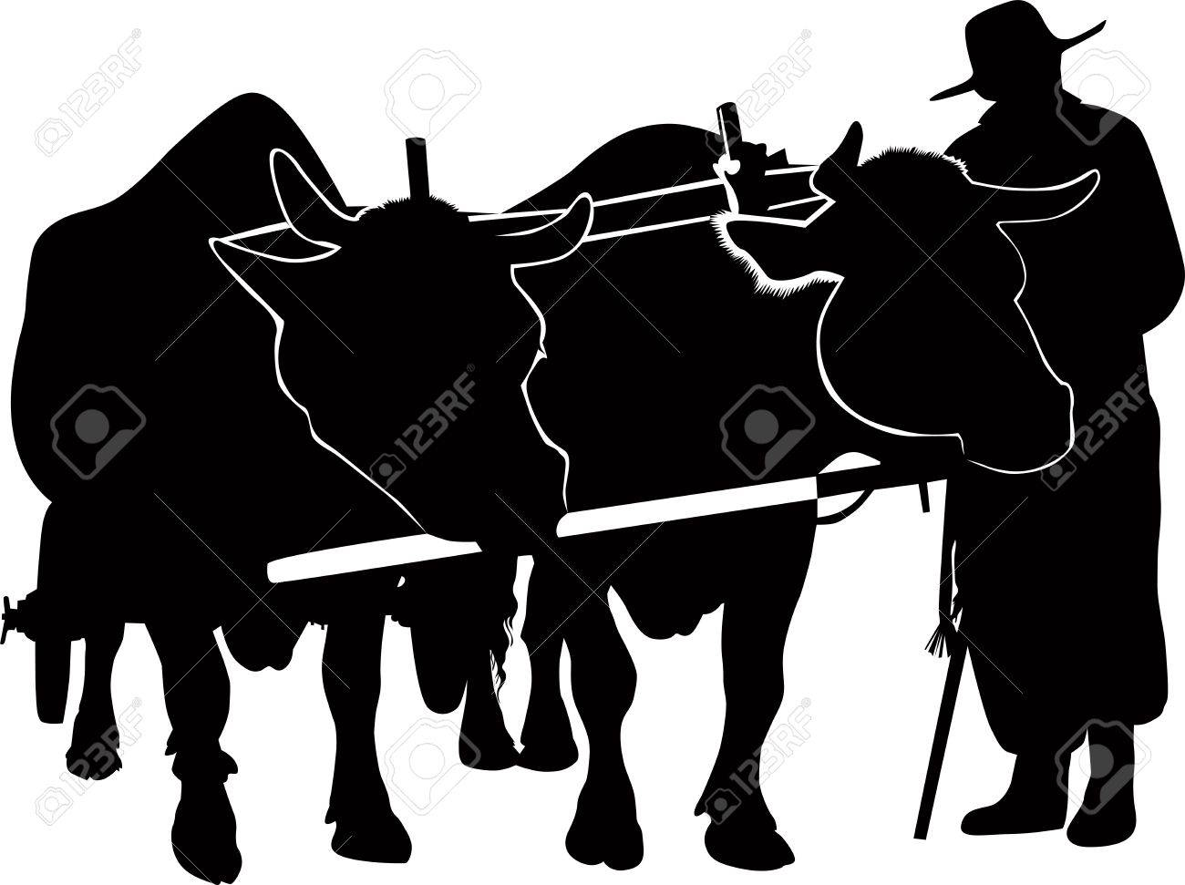 the farmer from herds of the agriculture Stock Vector - 15193128