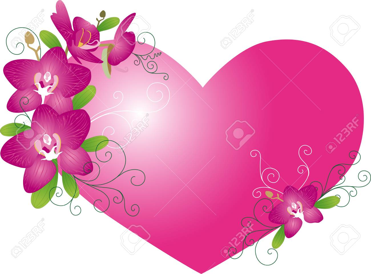 Valentine heart from flowers Stock Vector - 17736683