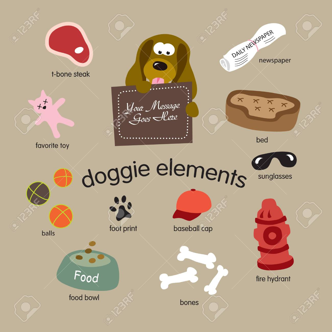 doggie elements vector set Stock Vector - 4342747