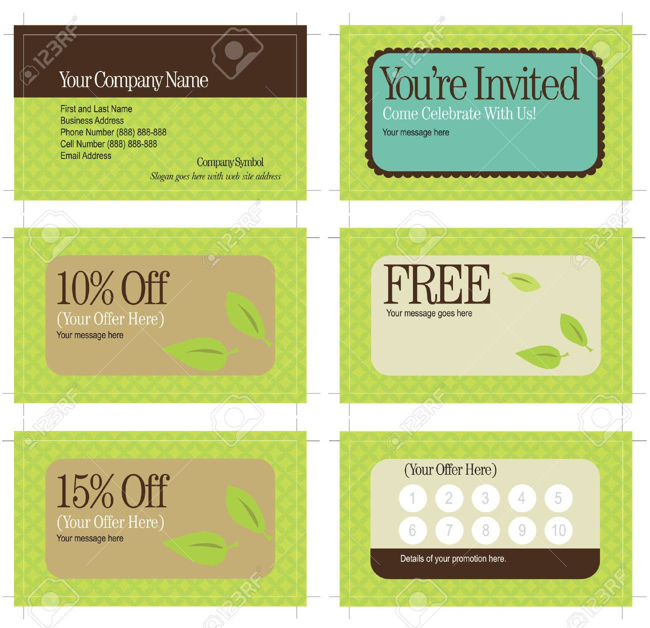 3.5x2 Business Card And Promo Cards (includes Crop Marks, Key ...