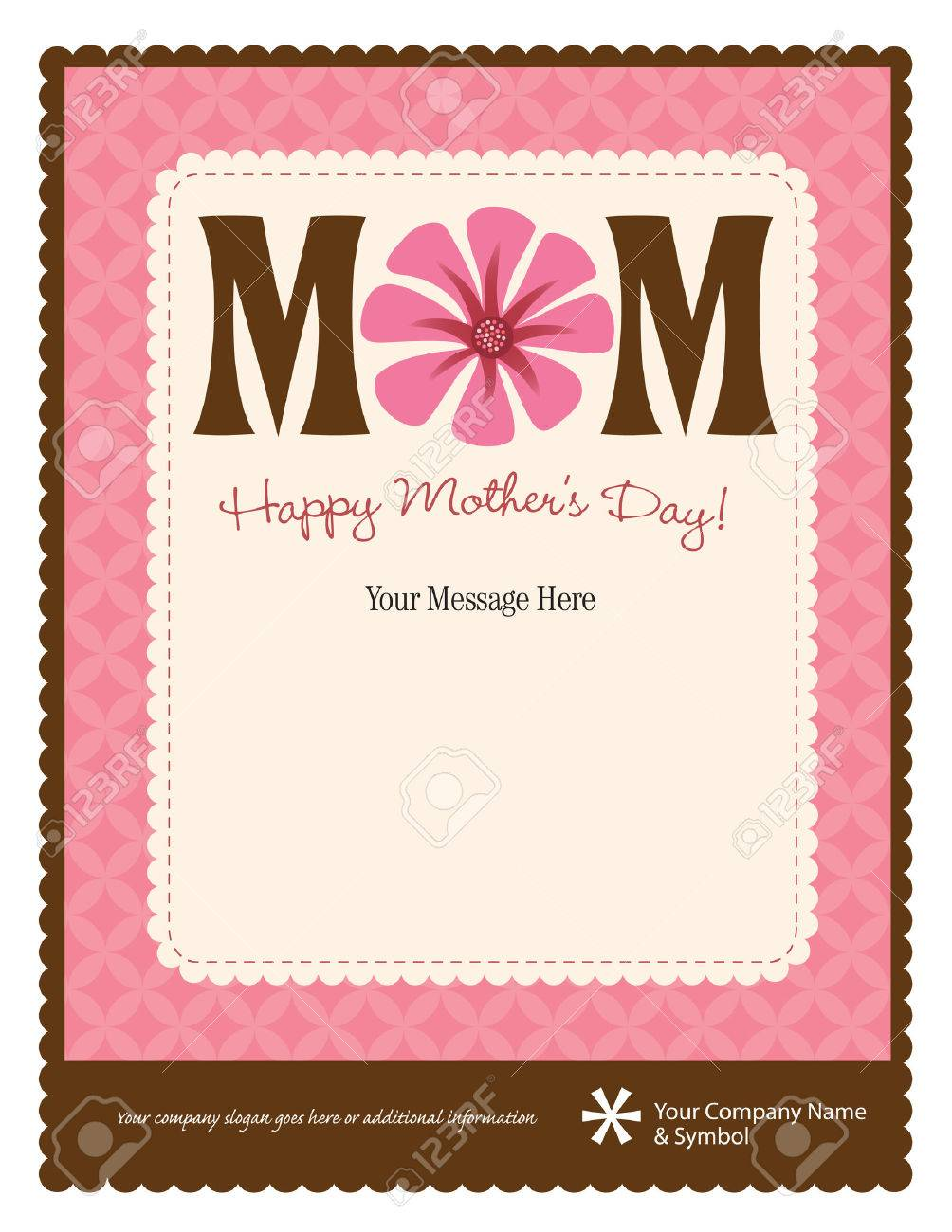 8.5x11 Happy Mother\'s Day Flyer/Poster Template Royalty Free ...