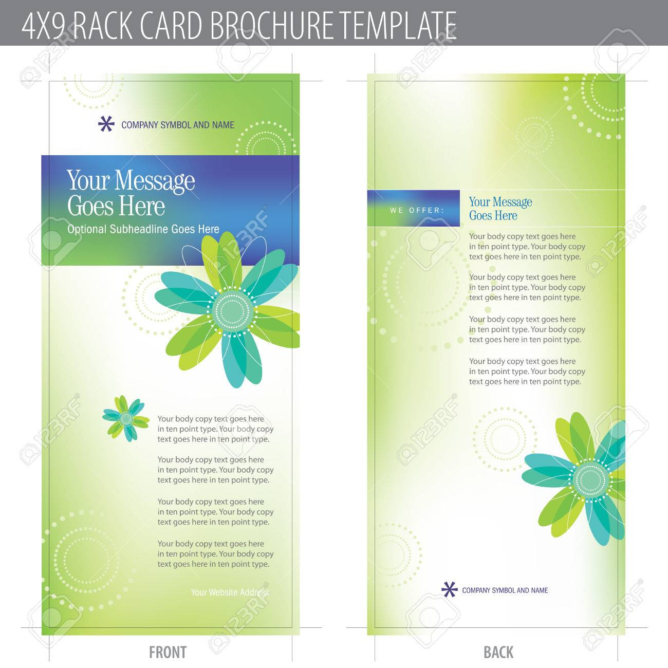 4x9 rack card brochure template includes cropmarks bleeds 4x9 rack card brochure template includes cropmarks bleeds and keyline elements in